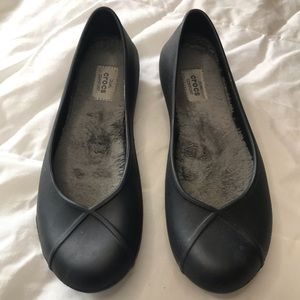 CROCS Olivia ll Lined Ballet Flat Slip On in Black